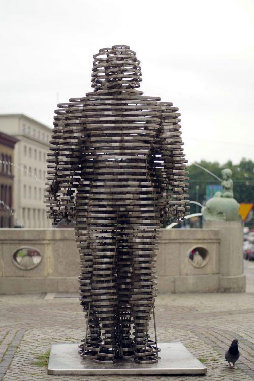 golem sculpture poznan