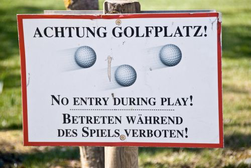golf golf course attention