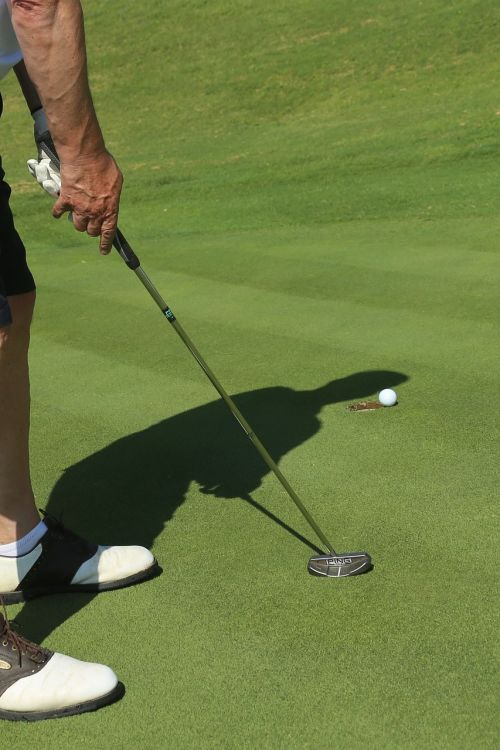 golf green putting