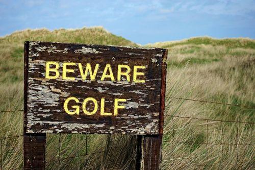 golf beware danger