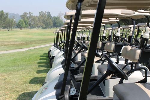 golf cart golfer