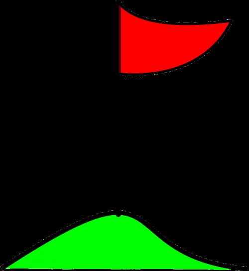 golf flag pole