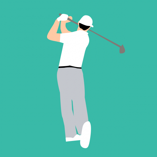 golf player playing