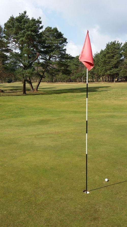 golf flag ball