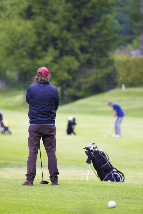 golf golfer grass