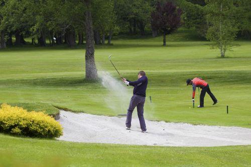 golf grass sand