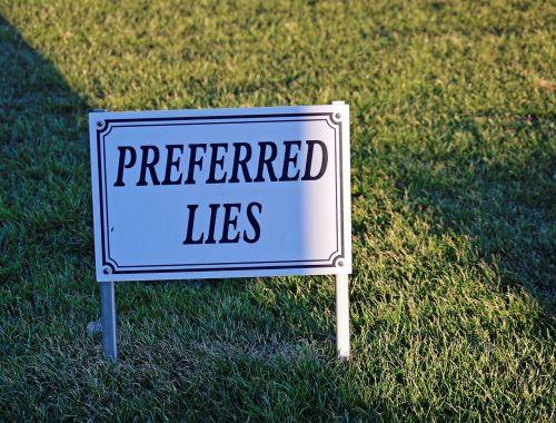 golf sign preferred lies