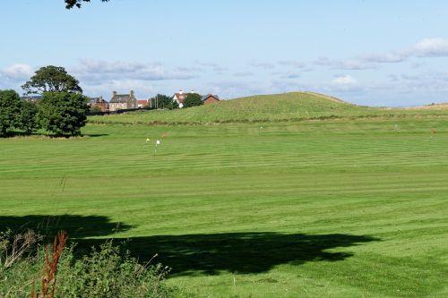 golf golf practice ground flags