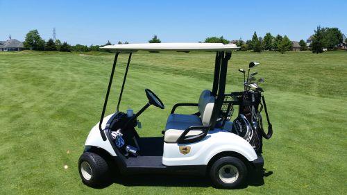 golf cart grass outdoor