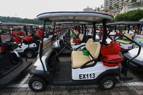 golf cart mission hills red