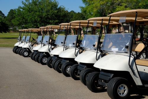 golf carts golf course
