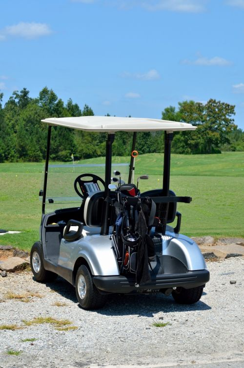 Golf Carts Parked