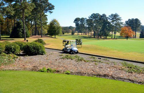 golfas & nbsp, Žinoma, golfas, golfas & nbsp, krepšelis, kraštovaizdis, ruduo, kritimo & nbsp, spalvų, sezonas, farvaterius, & nbsp, žalias, laisvalaikis, Sportas, golfo laukas