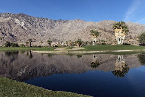 golf course water feature desert