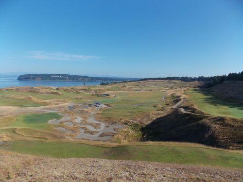 golf course puget sound bay