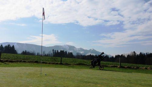 golf course golf flag hole