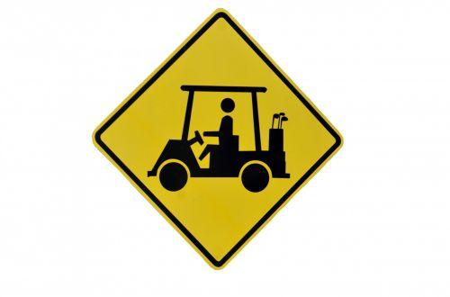Golf Crossing Sign