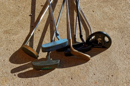 golf putters old golf clubs rusty clubs