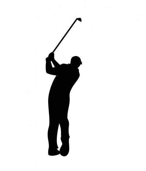Golfer Black Silhouette