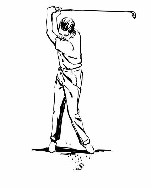 Golfer Clipart