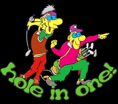golfers golf shot