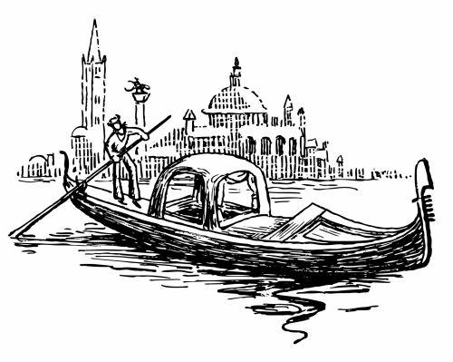 Gondola In Venice Illustration
