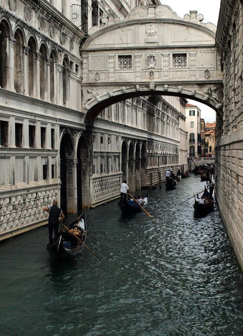 gondolas channels venice