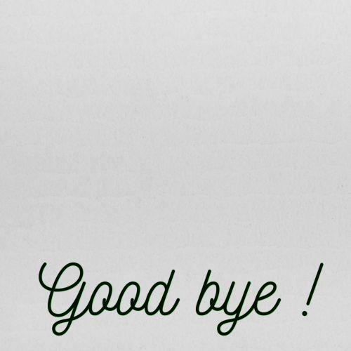 Good Bye Text