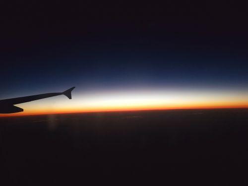 good night plane blue