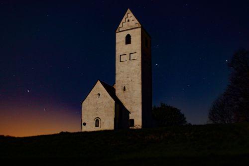 good night church at night