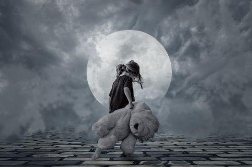 good night girl small child