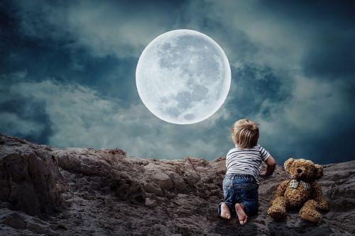 good night small child little boy