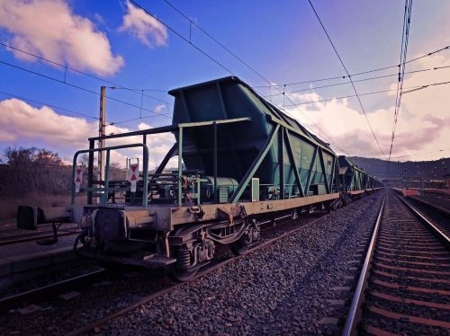 goods railway cargo train