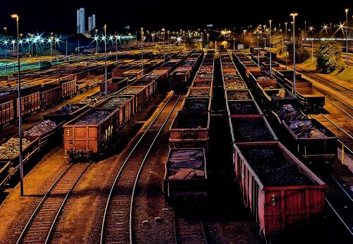 goods station freight trains gleise