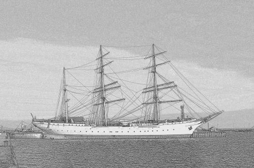 gorch fock 1 sailing vessel mast