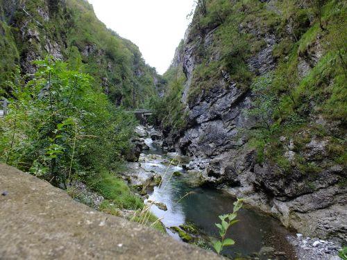 gorge river landscape
