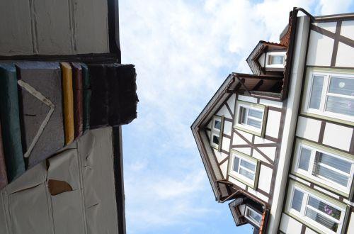 goslar fachwerkhaus low angle shot