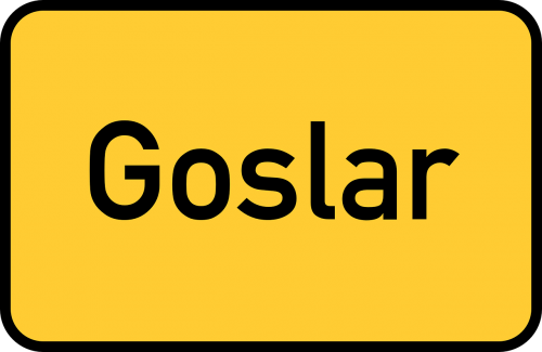 goslar lower saxony town sign