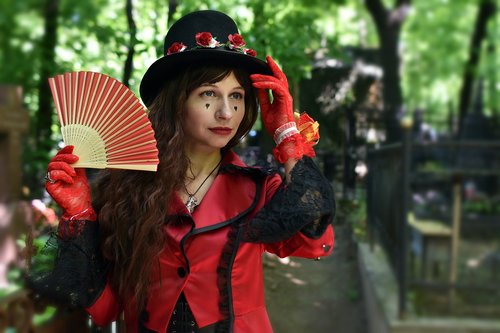 gothic  cosplay  victorian style