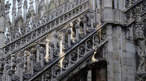 gothic cathedral  milan duomo  church