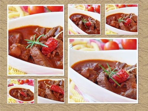goulash collage meat