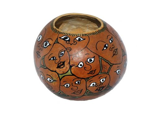gourd painted decorative