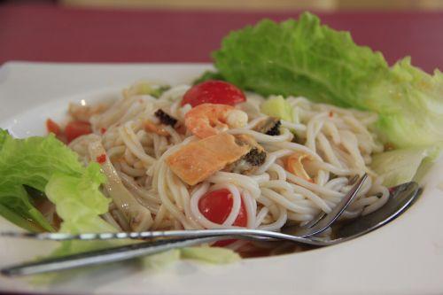gourmet seafood noodles thai noodles
