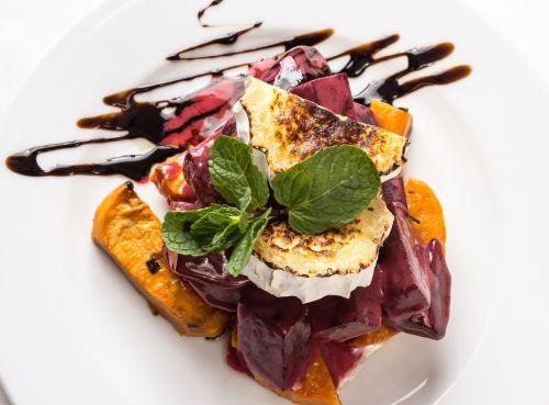 gourmet salad pumpkin salad cheese