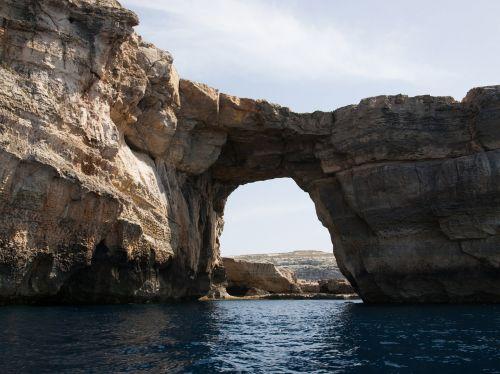 gozo azure window sea