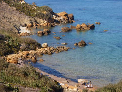 gozo beach deserted