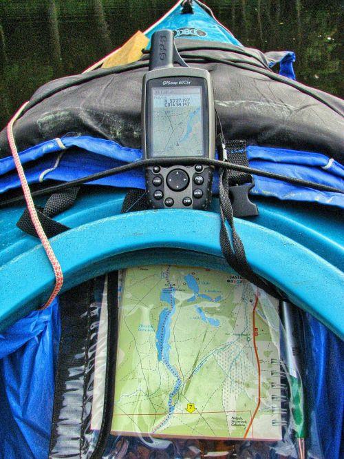 gps map kayak