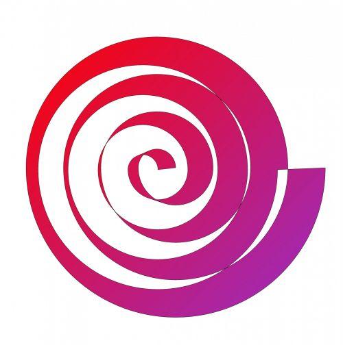 Gradient Color Spiral