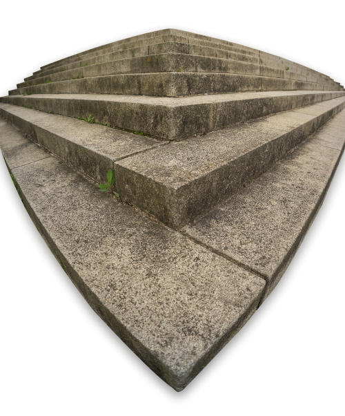 gradually stairs isolated