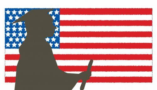 Graduate Grad USA Flag